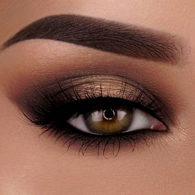 Грим за кафяви очи