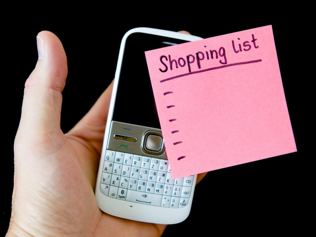 списък за пазаруване